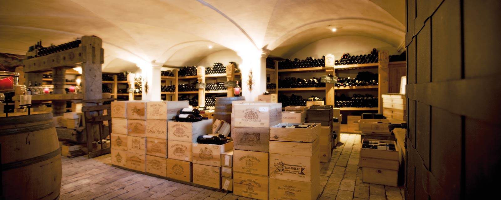 Wine cellar at the Burg Vital Resort